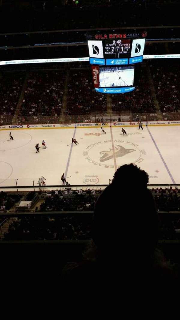 Gila River Arena, section: 201, row: B, seat: 4