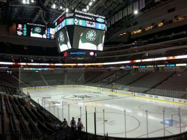 American Airlines Center, section: 114, row: S, seat: 19