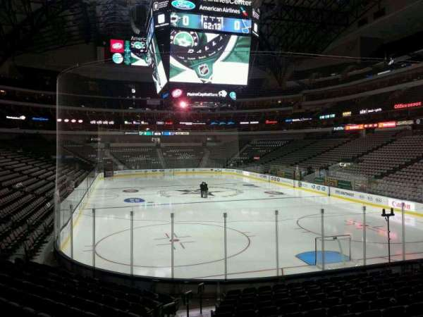 American Airlines Center, section: 101, row: O, seat: 20