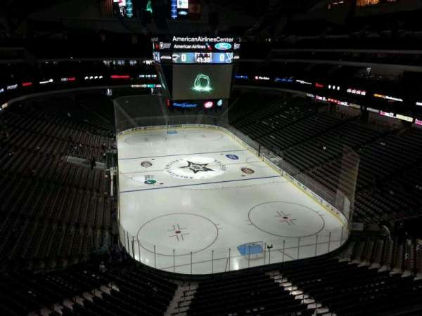 American Airlines Center, section: 319, row: A, seat: 13