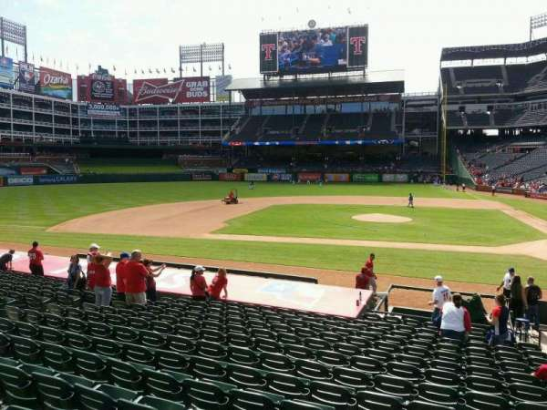 Globe Life Park in Arlington, section: 20, row: 17, seat: 16