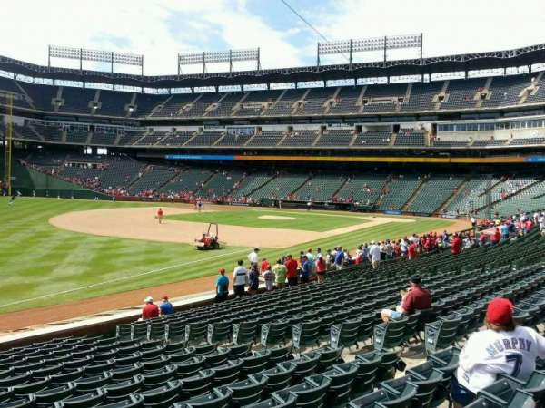 Globe Life Park in Arlington, section: 14, row: 16, seat: 8