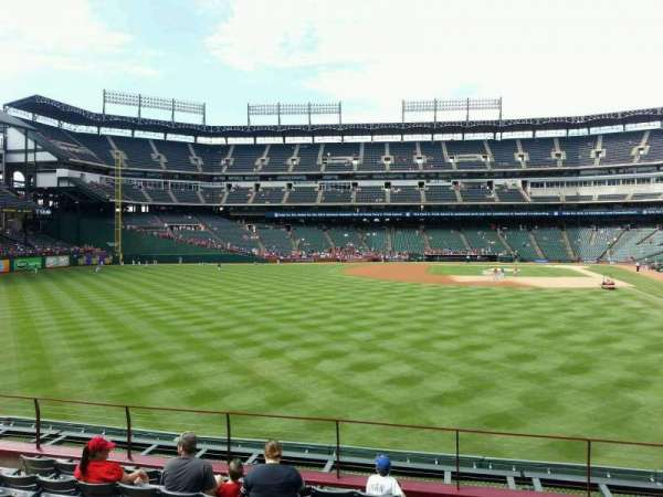 Globe Life Park in Arlington, section: 6, row: 9, seat: 10