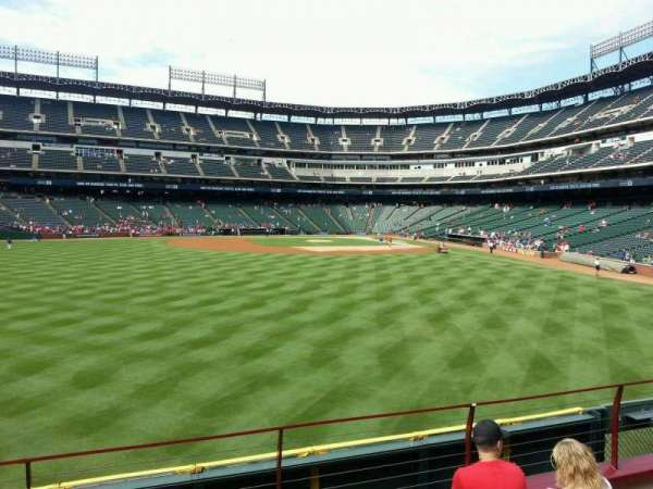Globe Life Park in Arlington, section: 3, row: 5, seat: 8