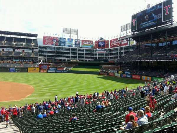 Globe Life Park in Arlington, section: 34, row: 29, seat: 18