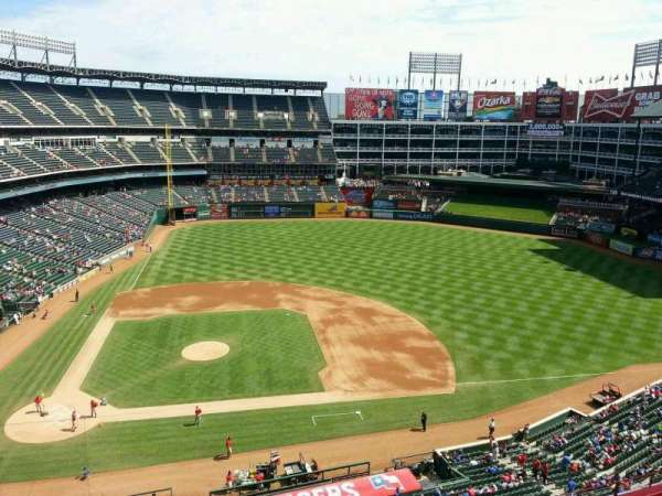 Globe Life Park in Arlington, section: 332, row: 2, seat: 8