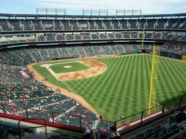 Globe Life Park in Arlington, section: 343, row: 8, seat: 6