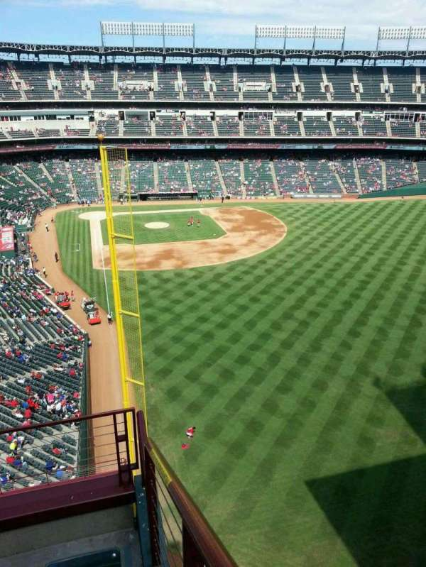 Globe Life Park in Arlington, section: 345, row: 4, seat: 9