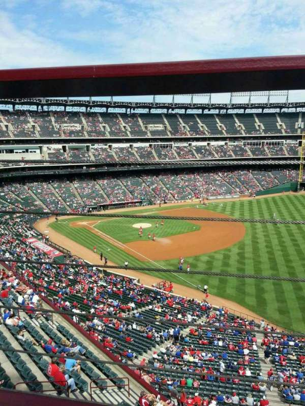 Globe Life Park in Arlington, section: 341, row: 1, seat: 4