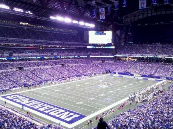 Lucas Oil Stadium, section: 422, row: 7, seat: 7