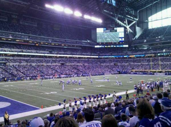 Lucas Oil Stadium, section: 145, seat: 9