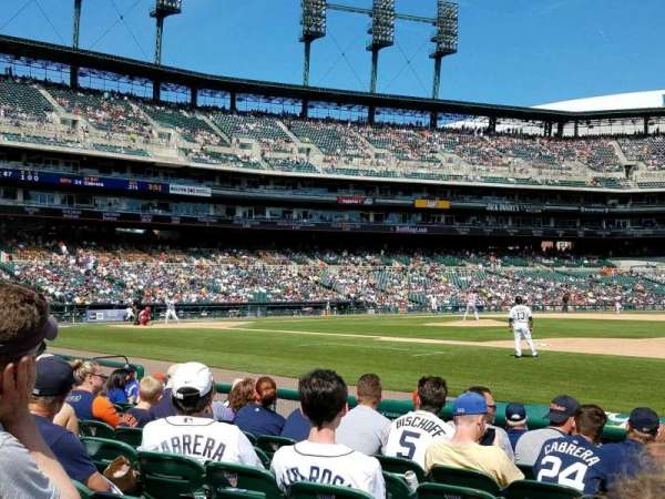 Comerica Park, section: 118, row: 9, seat: 18