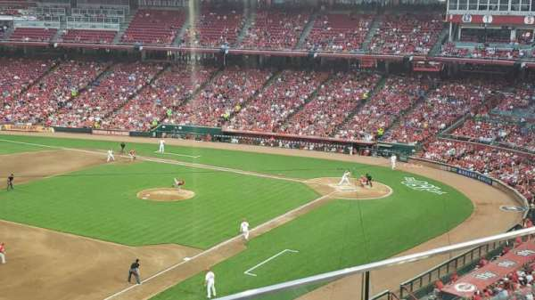 Great American Ball Park, section: 413, row: B, seat: 10