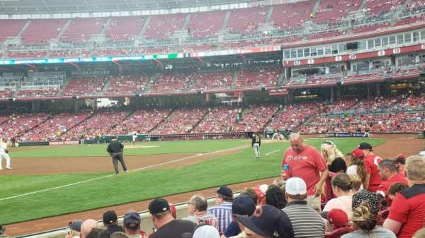 Great American Ball Park, section: 112, row: G, seat: 17