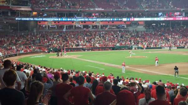 Great American Ball Park, section: 134, row: CC, seat: 1