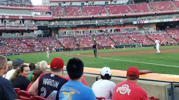 Great American Ball Park, section: 135, row: D, seat: 18