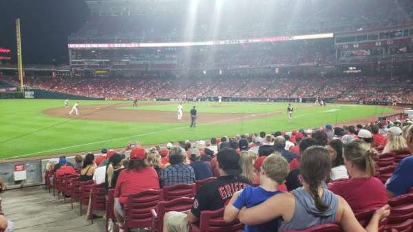 Great American Ball Park, section: 111, row: O, seat: 1