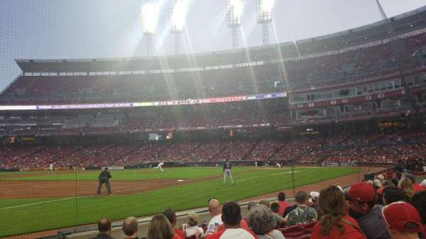 Great American Ball Park, section: 112, row: G, seat: 2