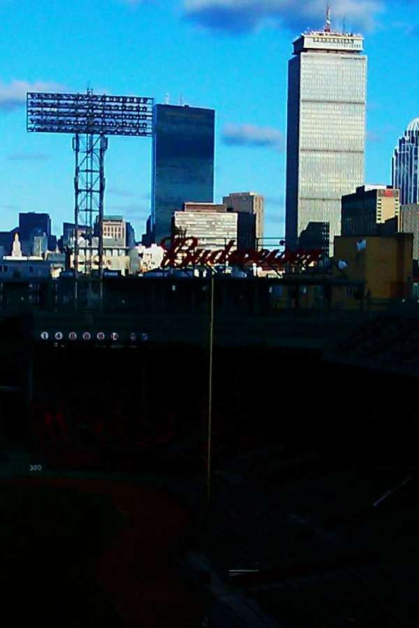 Fenway Park, section: f. field skyline