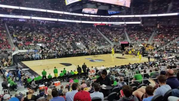 T-Mobile Arena, section: 4, row: L, seat: 4