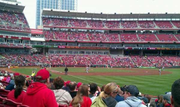 Great American Ball Park, section: 136, row: P, seat: 14