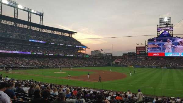 Coors Field, section: 118, row: 27, seat: 15