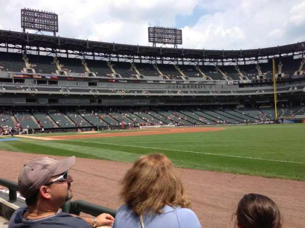 Guaranteed Rate Field, section: 115, row: 1, seat: 7