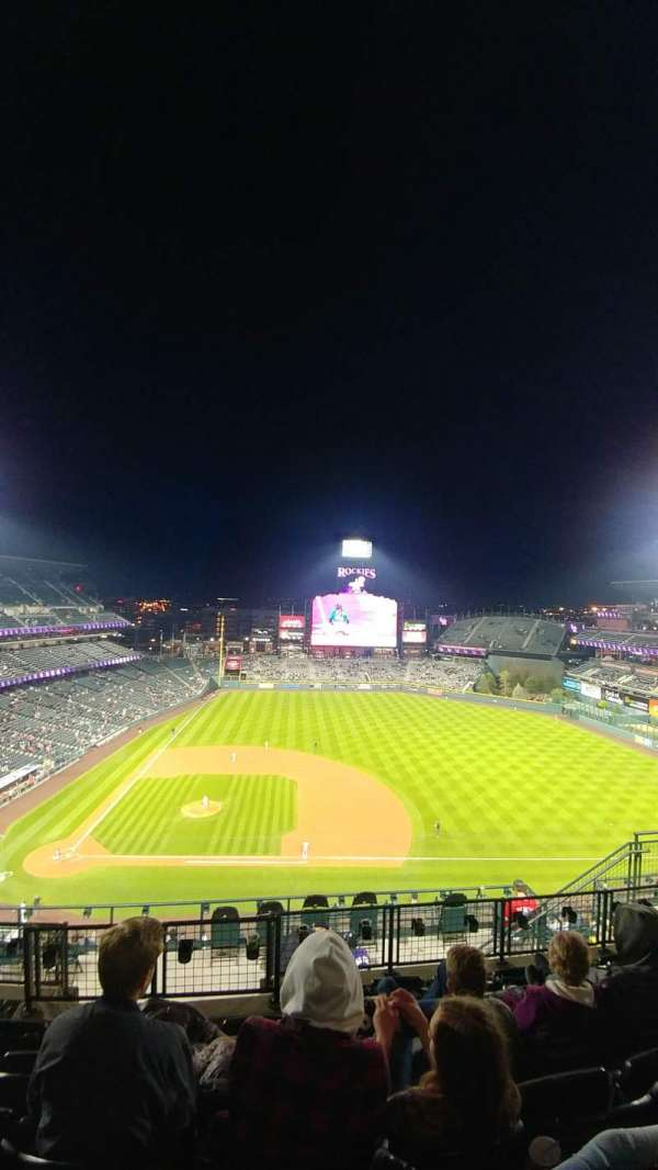 Coors Field, section: U325, row: 15, seat: 11