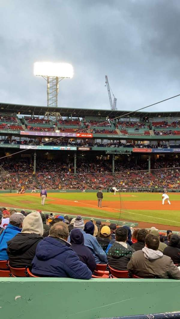 Fenway Park, section: Right Field Box 97, row: BB, seat: 11