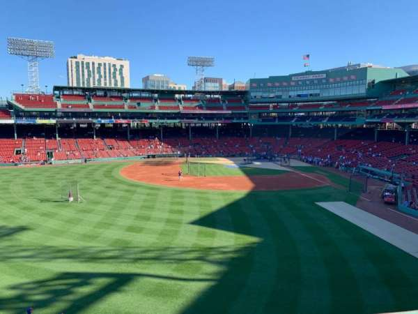 Fenway Park, section: Green Monster 5, row: 1, seat: 3