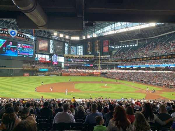 Chase Field, section: 128, row: 38, seat: 10
