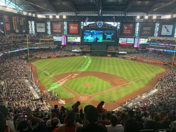 Chase Field, section: 315, row: 22, seat: 22