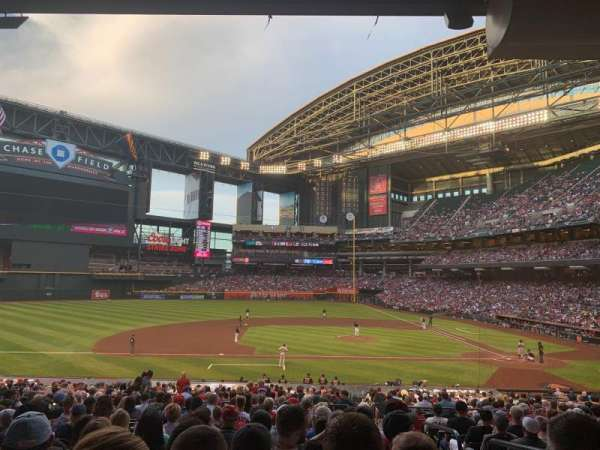 Chase Field, section: 128, row: 35, seat: 3