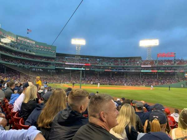 Fenway Park, section: Right Field Box 7, row: J, seat: 5