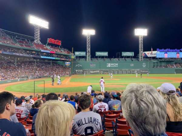 Fenway Park, section: Field Box 38, row: M, seat: 2