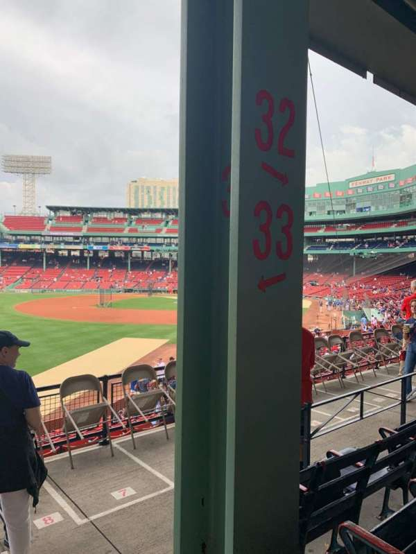 Fenway Park, section: Grandstand 33, row: 4, seat: 1