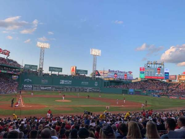 Fenway Park, section: Loge Box 124, row: LL, seat: 4