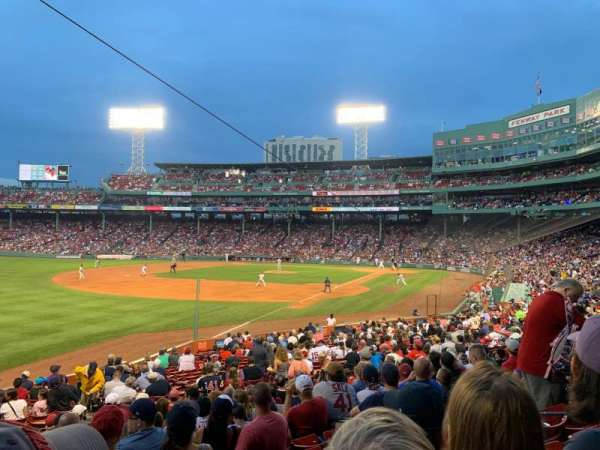 Fenway Park, section: Loge Box 162, row: NN, seat: 7