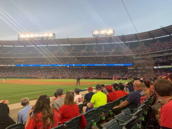 Angel Stadium, section: F107, row: D, seat: 18