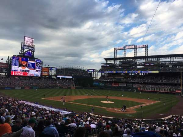Coors Field, section: 132, row: 38, seat: 12