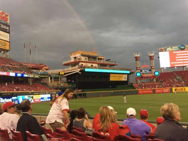 Great American Ball Park, section: 111, row: I, seat: 8