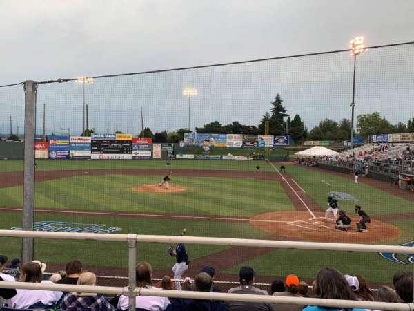 Everett Memorial Stadium, section: I, row: 7, seat: 6