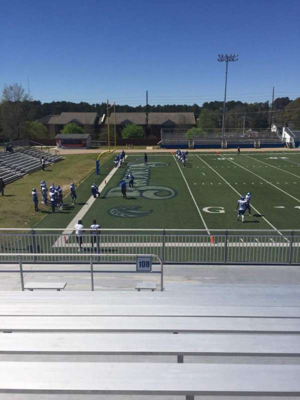Luther Nick Jeralds Stadium, section: 108, row: J, seat: 10