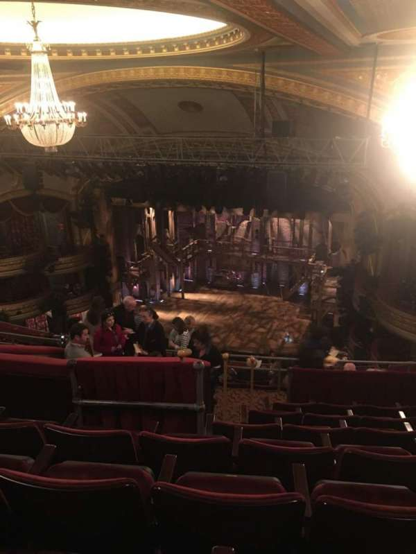 Richard Rodgers Theatre, section: Rear Mezzanine R, row: G, seat: 18