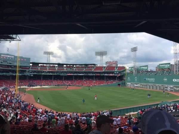 Fenway Park, section: Grandstand 3, row: 9, seat: 18-19