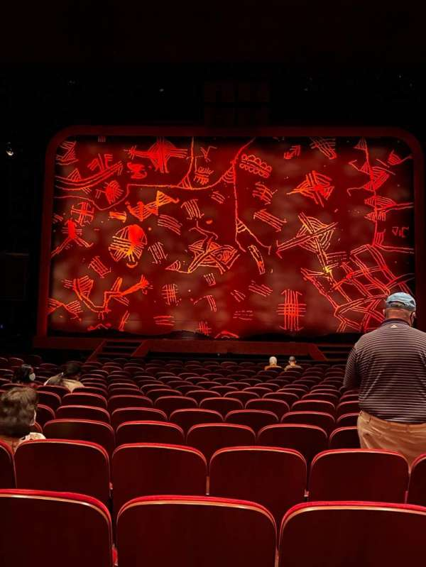 Minskoff Theatre, section: Orchestra C, row: P, seat: 115