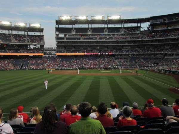 Nationals Park, section: 105, row: K, seat: 16