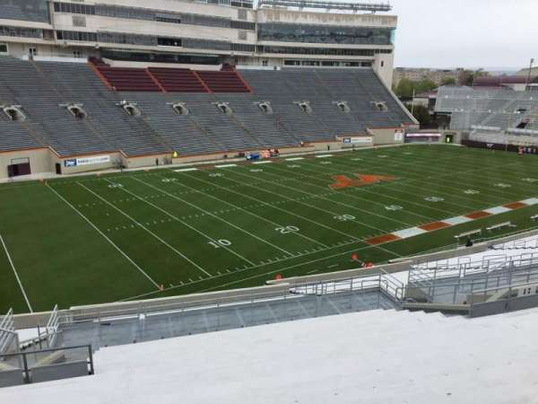 Lane Stadium, section: 19, row: AAA, seat: 18