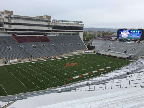 Lane Stadium, section: 39, row: 4N, seat: 12