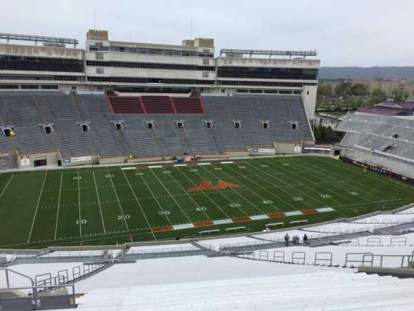 Lane Stadium, section: 35, row: 4W, seat: 20